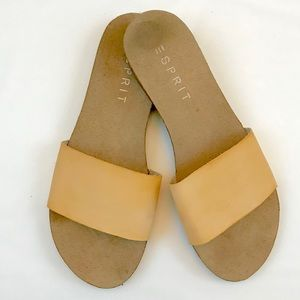 Esprit leather strap sandals with cork footbed, 9